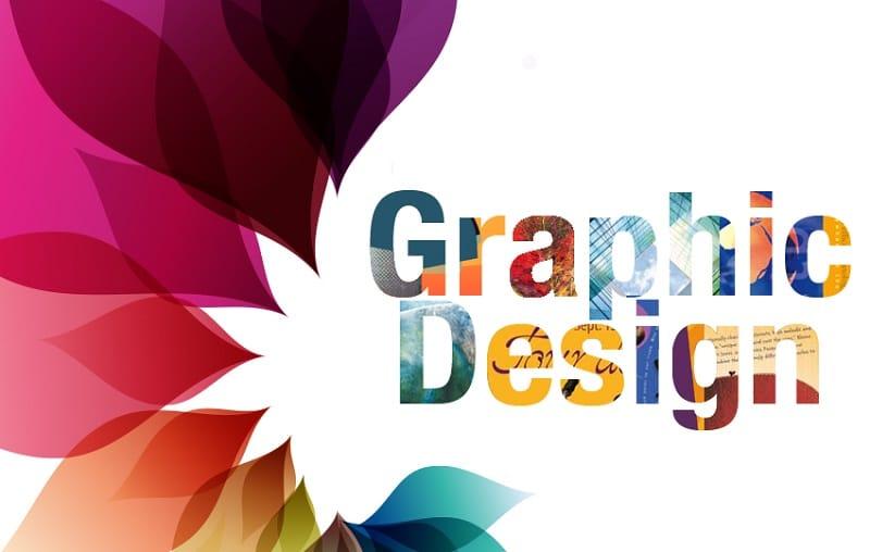 A Poster written Graphic Design