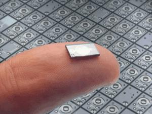 MEMS chip on someone's finger