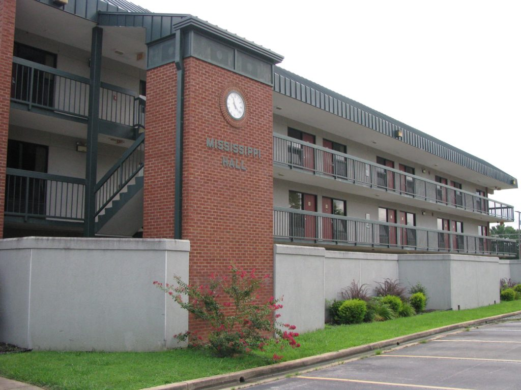 Building on campus at NMCC.