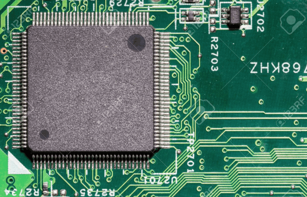 a computer processing chip