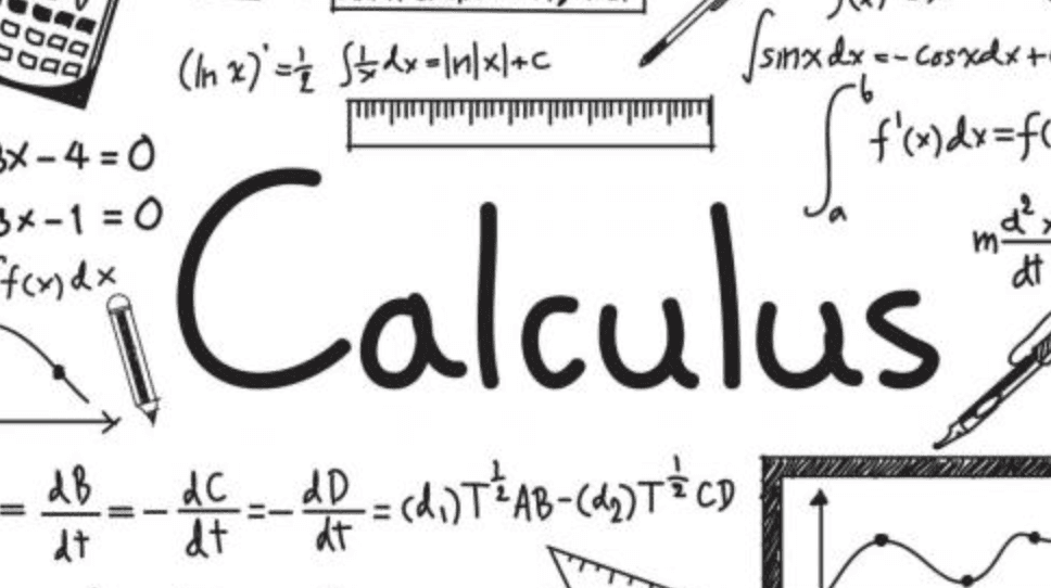 Calculus text with equations and graphs
