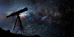 A telescope looking into the sky