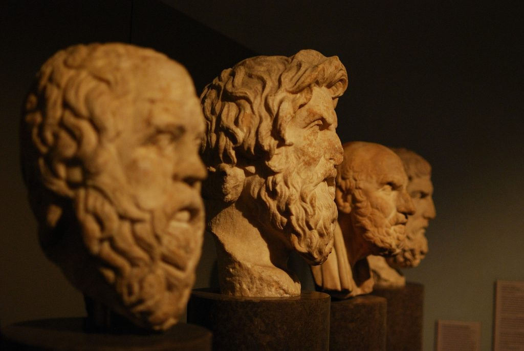 picture of head busts for famous philosophers