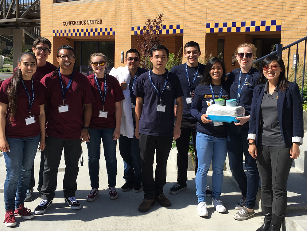 California Baptist University students at the Chem-E-Car Western Student Regional conference