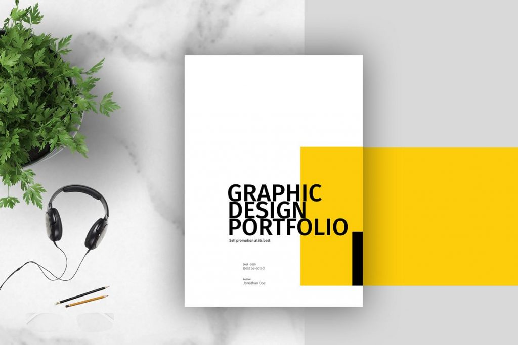 Example of a graphic design portfolio