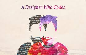 """a designer with a coder that says """"a designer who codes"""" at the top"""