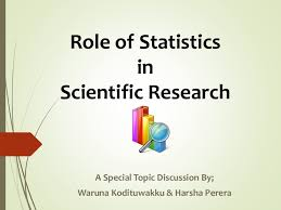 This title slide shows the role of stats in scientific research like psychology