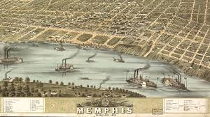 historical picture of the city of Memphis when founded