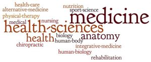 words that describe health science in a wordcloud