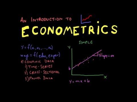 Econometrics calculations and graph
