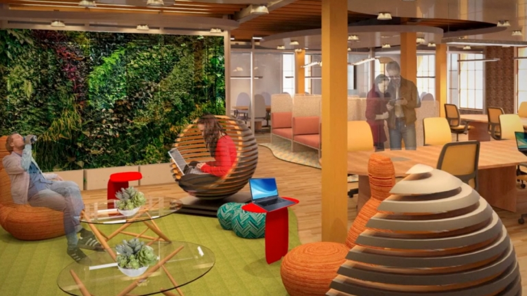 sample interior design of a working space