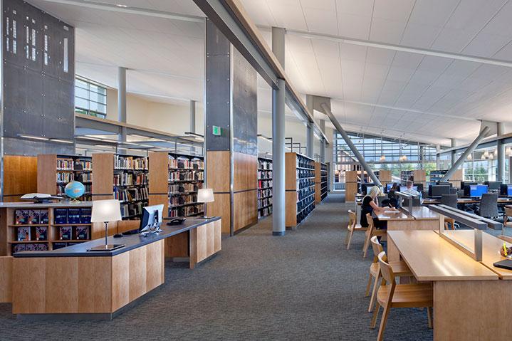Mendocino library interior