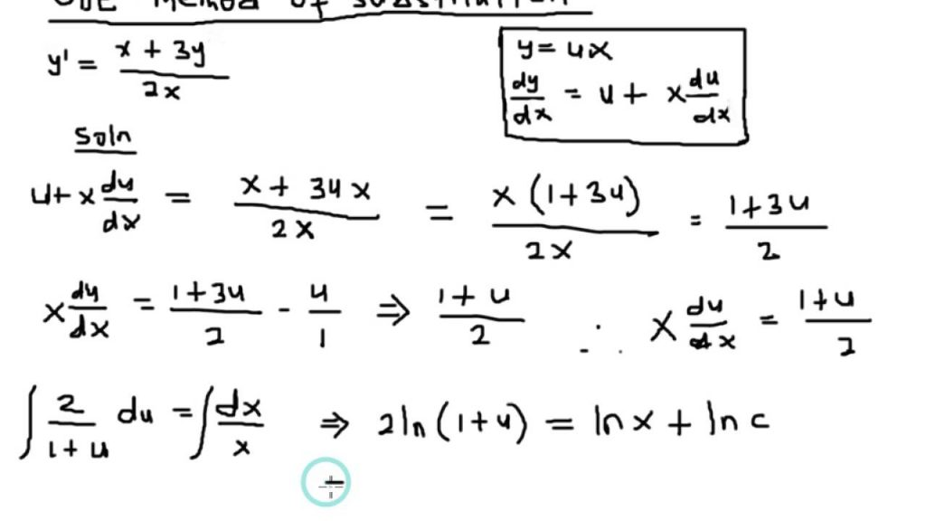 Image of written formulas and equations.