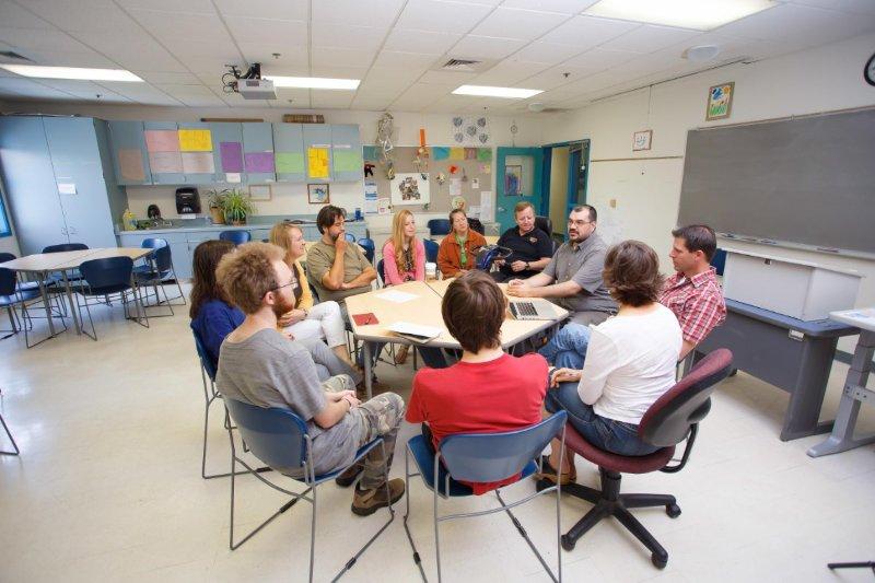 Ethnic Studies Students having their class meeting.