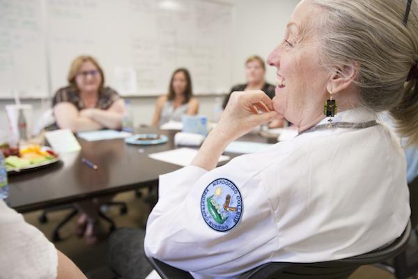 Nursing faculty meeting at Mendocino College