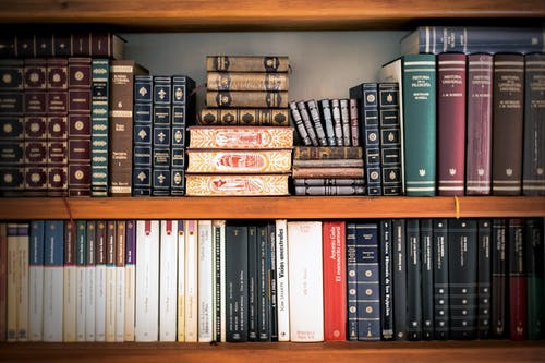 picture of books on a shelf