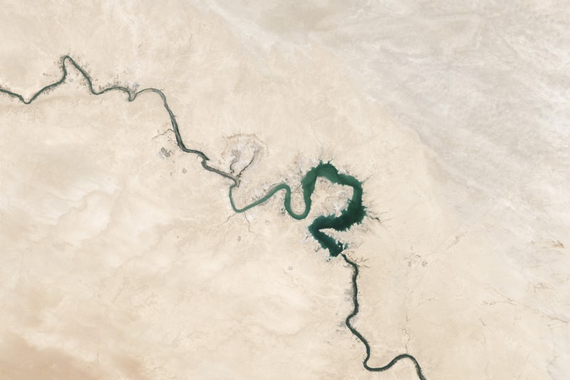 picture of satellite capture of earth environment