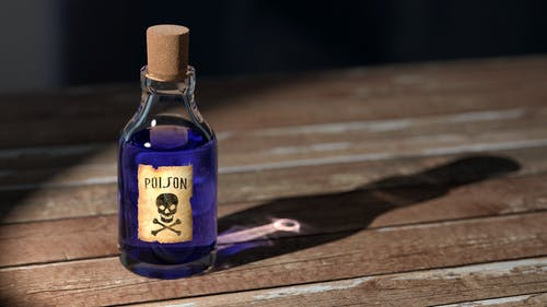 picture of a vial of poison