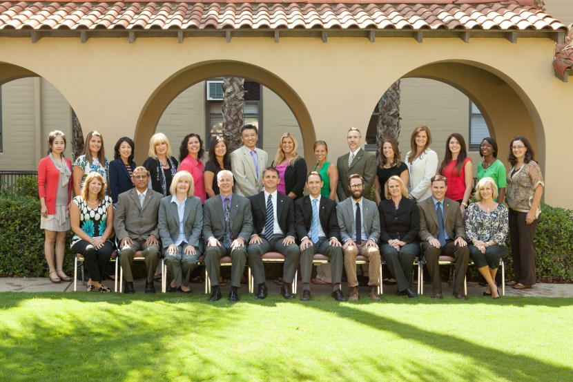 faculty and staff group picture at California Baptist University