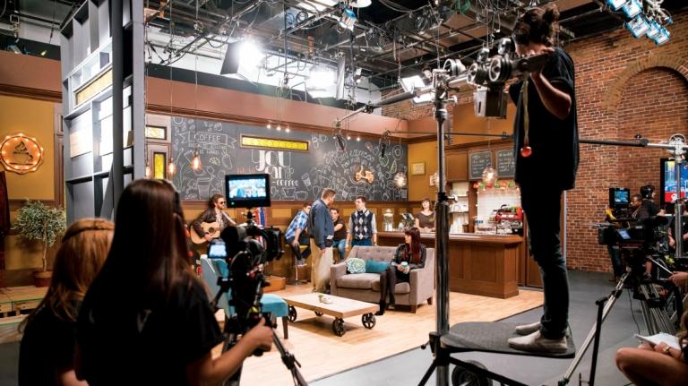 Television set up production made by Savannah students