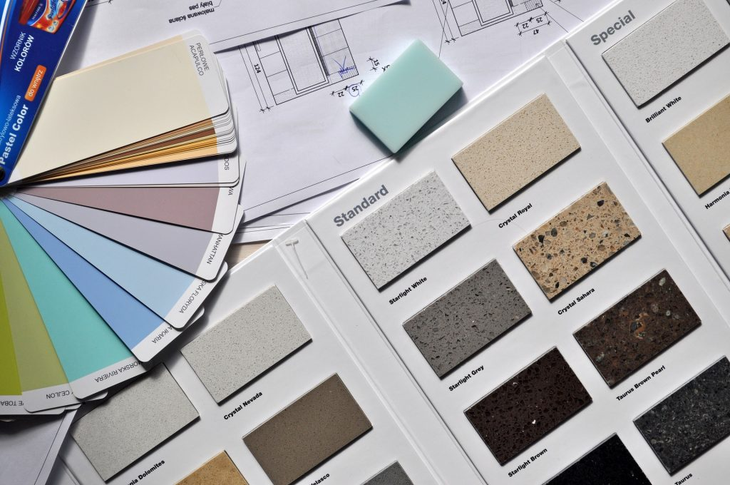 picture of colour palette used in interior design