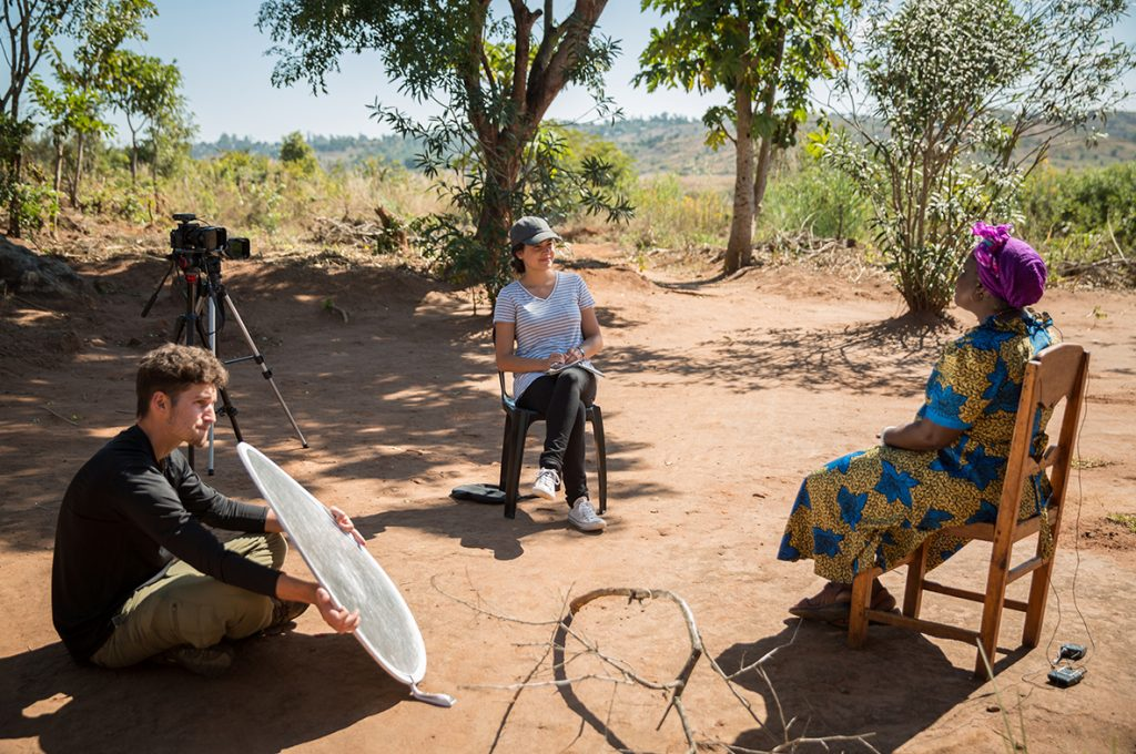 Producers filming in Africa