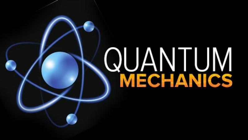 A poster written QUANTUM MECHANICS