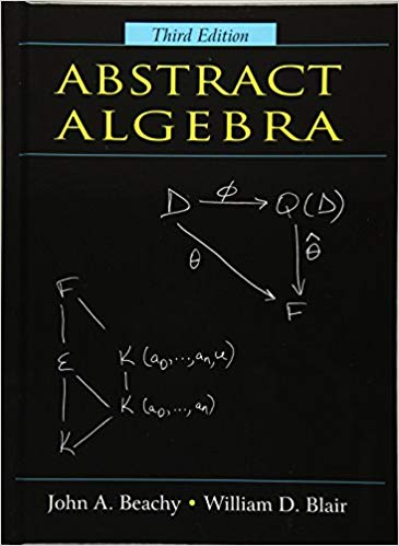 An Abstract Algebra textbook cover