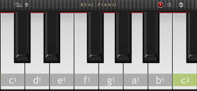 the different keys of a piano