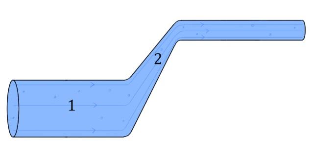 A simple illustration of the Bernoulli's Principle in Fluid Mechanics