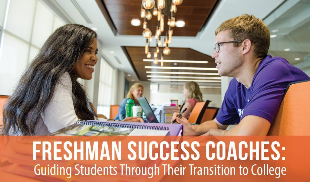 A success coach mentors a student.