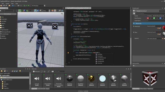 A screenshot of a computer game programming software