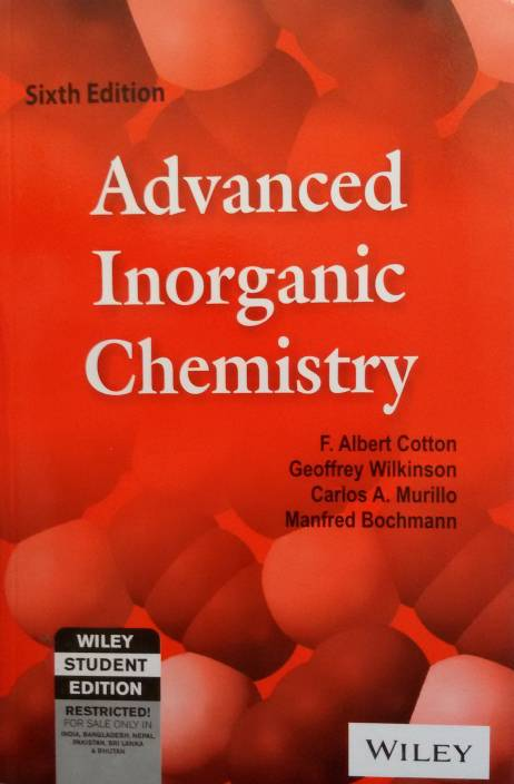 An Advanced Inorganic Chemistry textbook cover