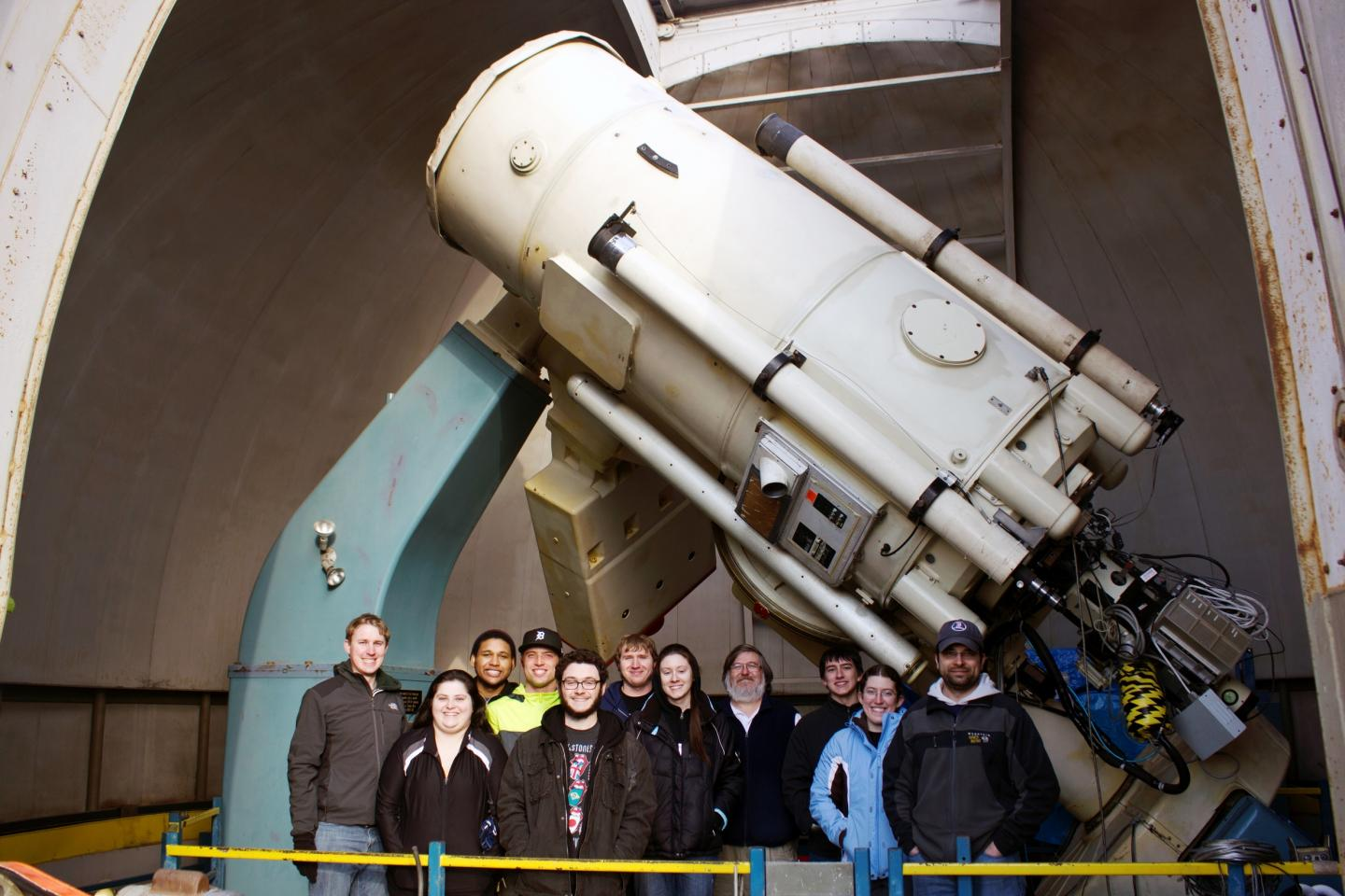 The observing team (students from Physics and Astronomy department) from University of Toledo.