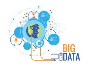 Big data business concept cartoon graphic