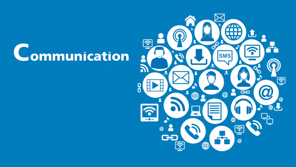 A poster written Communication