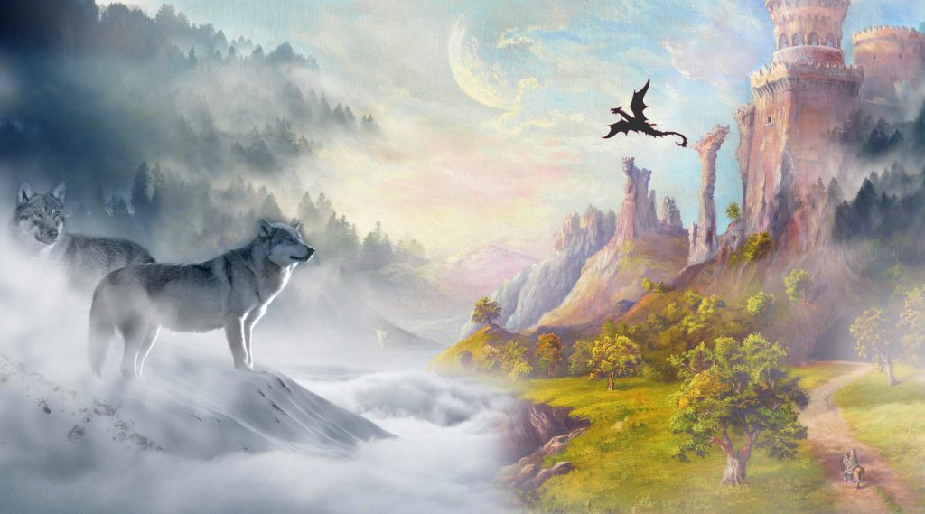 Fantastical worlds and creatures are one type of element employed in fiction writing.