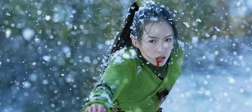 An actress stars in a martial arts film set in China.