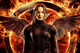 Picture of Katniss Everdeen, the teenage star of the acclaimed YA dystopian series, The Hunger Games.
