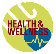 A circular health and wellness label with a beating heart