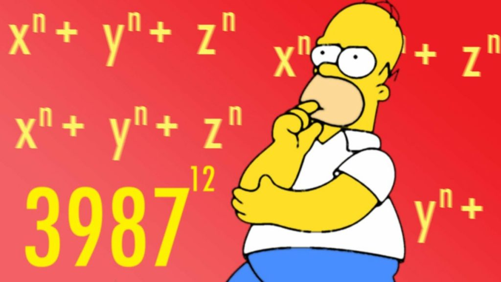 Homer Simpson and some math equations