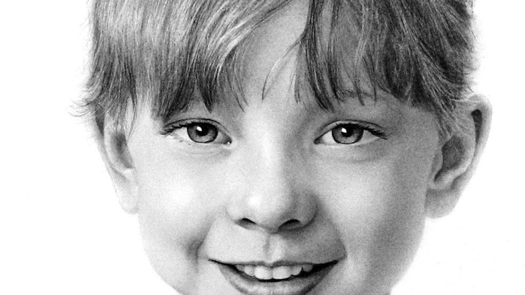 A portrait of a child