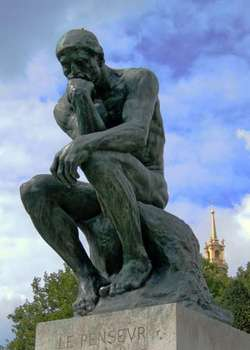 The Thinker is a sculpture that embodies the feeling of trying to make sense of the world - similar to how students in this class will feel.