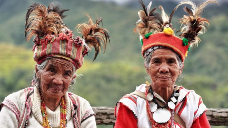 two elderly indigenous people.