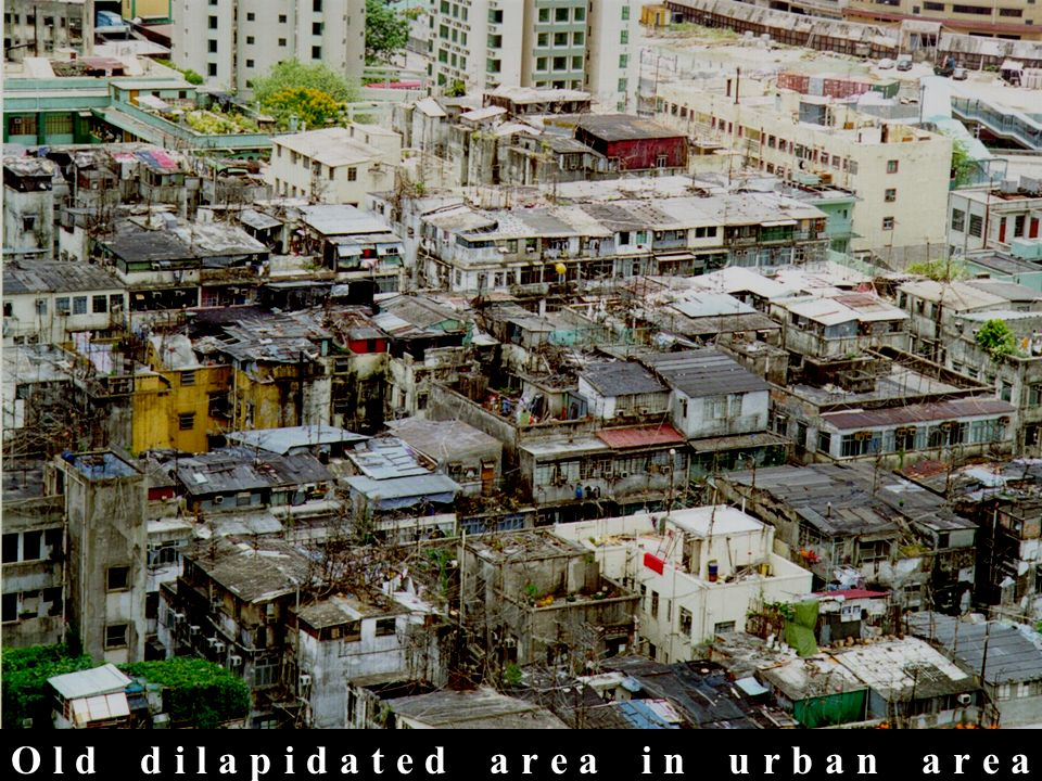picture of an urban community in the slums