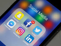 A screen on a phone with social media mobile applications