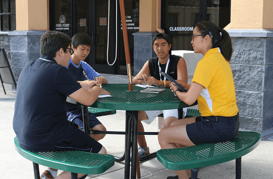 students from doing a group study