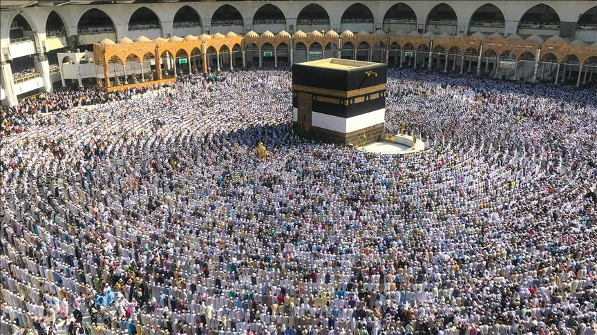Muslims on the pilgrimage to Mecca.