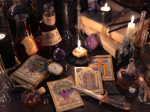 PIcture of witchcraft stuff