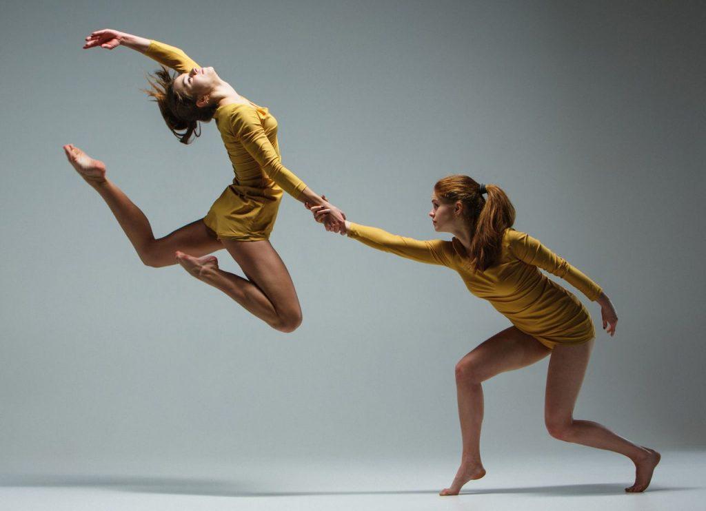 An image of two women dancing